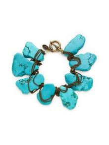 Tova - Turquoise: Design Inspiration, Jewelry Fetish, Turquoi Howlit, Jewelry Inspiration, Chunky Bracelets, Bracelets Turquoi, Tova Howlit, Crystals Chunky, 38 Gilthowlit