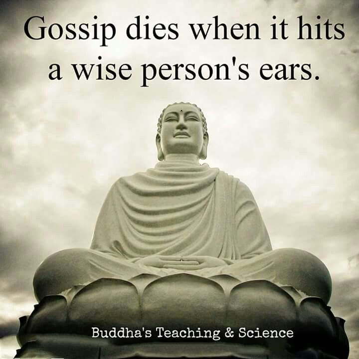 I'm wise. I don't gossip. Come to gossip?  There wont be anything to talk about