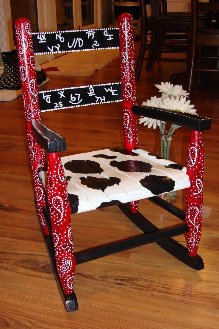western rocking chair  nurseries/kids rooms  Pinterest