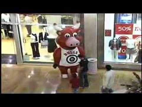 Check out Benny the Bull as he stops in to a local mall to surprise some unsuspecting shoppers