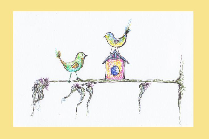 Two Birds - Erika Reid Illustrations
