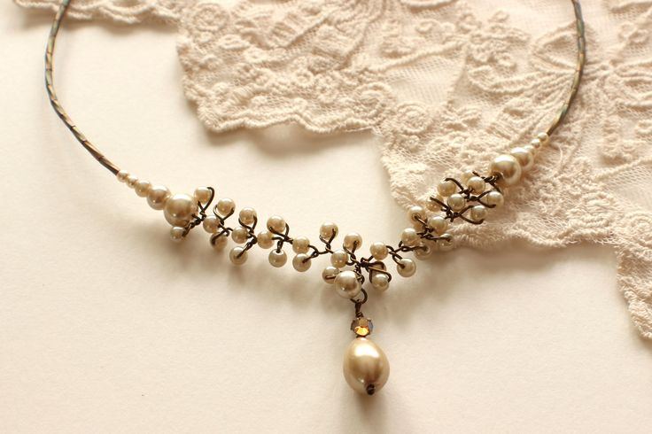 Vintage Droplets Necklace - Wedding Jewelry, Bridal Jewelry, Bridesmaid Jewelry, Mother of the Bride Necklace http://www.robingoodfellowdesigns.com/new-designs-2014/vintage-droplets