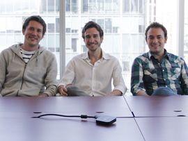 De derecha a Izquierda, Daniel Guajardo (CIO), Roberto León (CEO)y Guillermo Medel (CTO)
