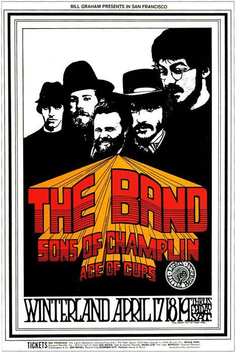 The Band Poster Winterland, 1969 Art by Randy Tuten