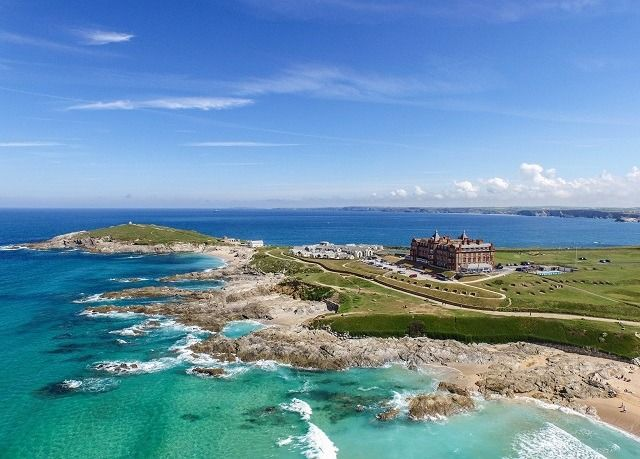 A dramatic location on the headland near Fistral Beach, with an award-winning spa and AA Rosette restaurant – includes access to the award-winning spa and more