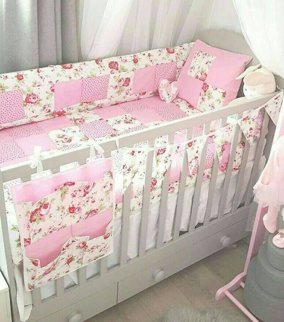 Crib Quilt Cot Quilt Bumper Set Cath Kidston Rosali Fabrics 6piece Shabby Chic Handmade Patchwork Cot Bed Quilt Playmat Tummy Time Comforter