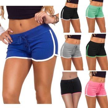 Летний спортивный Секс Женщины Drawstring Натяжные Стройное Тощие Мини шорты