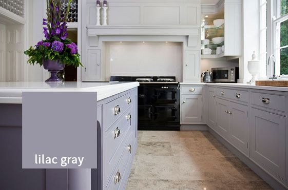Plush Perfection: Pantone's 'Lilac Grey' is gentle yet beautiful in any kitchen. With hints of purple, this intriguing colour looks elegant and crisp against white, but can also be harmonised with lighter or darker shades. To add some lovely lilac to your kitchen, we recommend Farrow & Ball's 'Brassica'. http://www.deterra-kitchens.co.uk/blog/page/2/