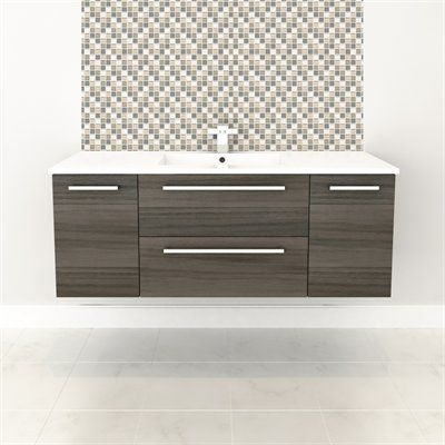 """Cutler Kitchen & BathSilhouette Collection 48"""" Wall Hung Vanity with Top - Fixture Universe"""