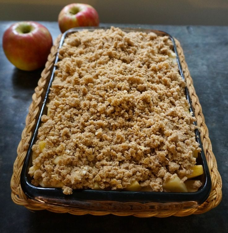 Stayman-Winesap Apples and Aromatic Apple Oat Crisp #Wolff'sAppleHouse #apples #FallFlavors