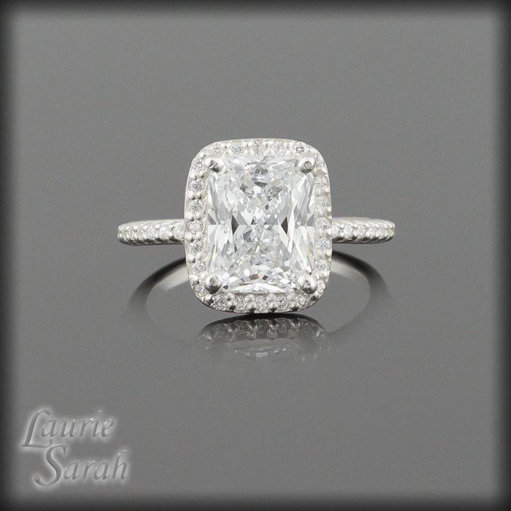 Rectangular Cushion Cut CZ Engagement Ring in 14k gold Custom Jewelry is our