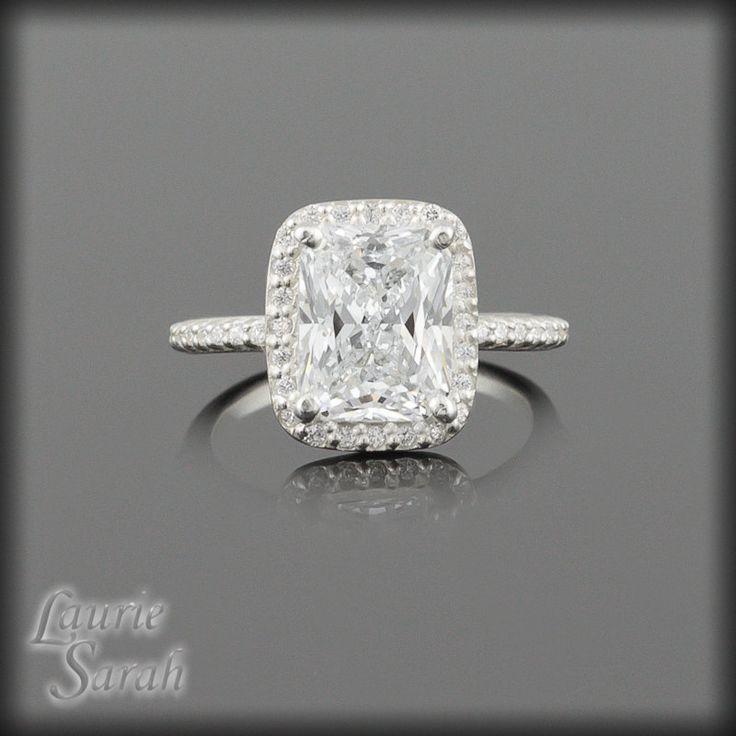 Alternative Engagement Ring Rectangular Cushion Cut Cz