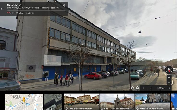Discovering Brno via Google Maps street view, used for the first time at a lesson at school