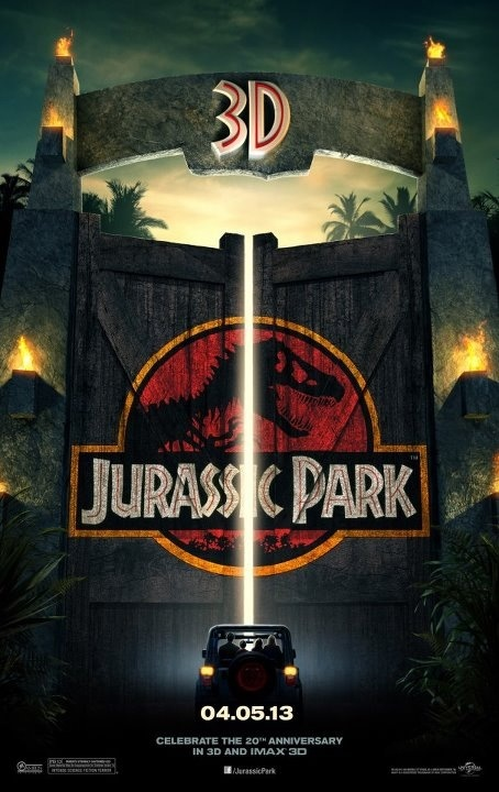 Jurassic Park- Oh oui j'étais toute excité quand on sait que le T rex a quitté son enclos et qu'on voit les vibrations dans le verre d'eau...GrRrRrRrRr