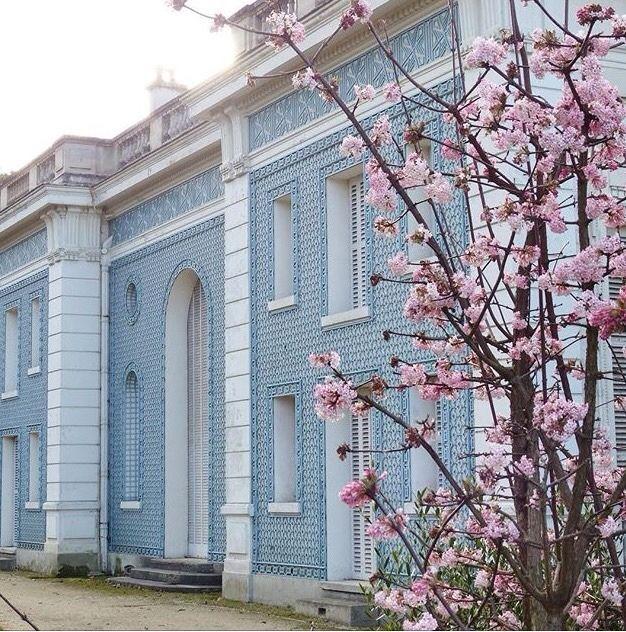 """latouchefr: """" Treillages bleus aux jardins de Bagatelle https://instagram.com/p/BQ950CElph4/ """""""