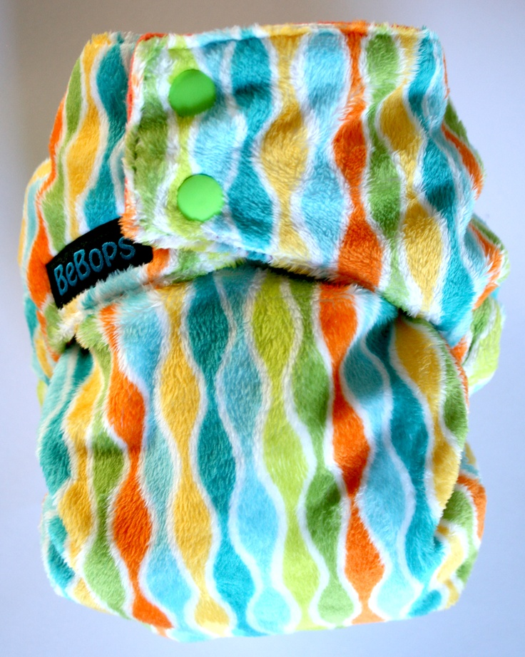 BeBops Tropical Blast Minky Pocket Nappy