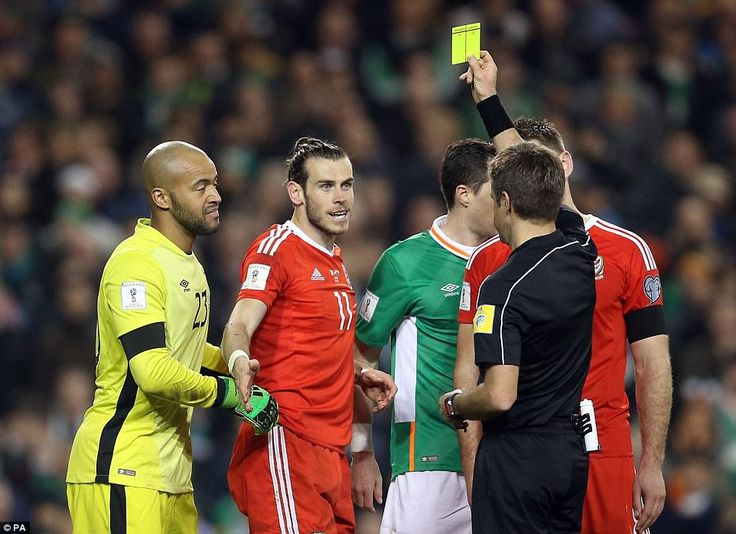Garth Bale had been booked during an ill-tempered second-half in Dublin for an outrageous tackle on John O'Shea