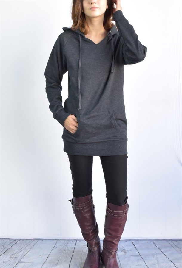 Ella Tunic fleece hoodie 7 colors | Jane