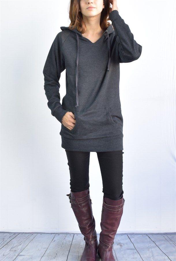 Ella Tunic fleece hoodie 7 colors | Jane