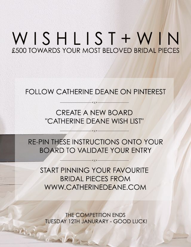 Wish List + Win | Catherine Deane | Pin to Win!