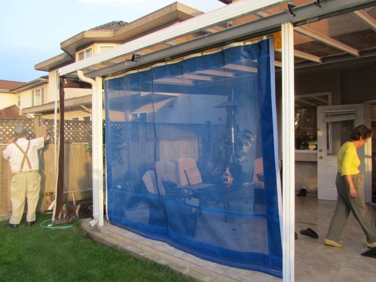 Blue Patio Mosquito Screen