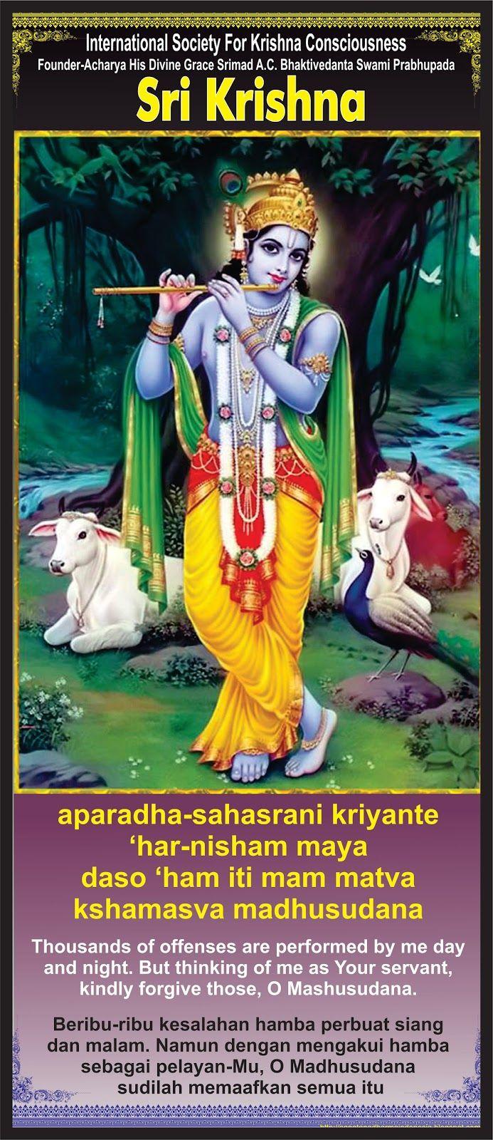 "Sanatana Dharma Indonesia: ""Doa Permintaan Maaf Pada Sri Krishna"""