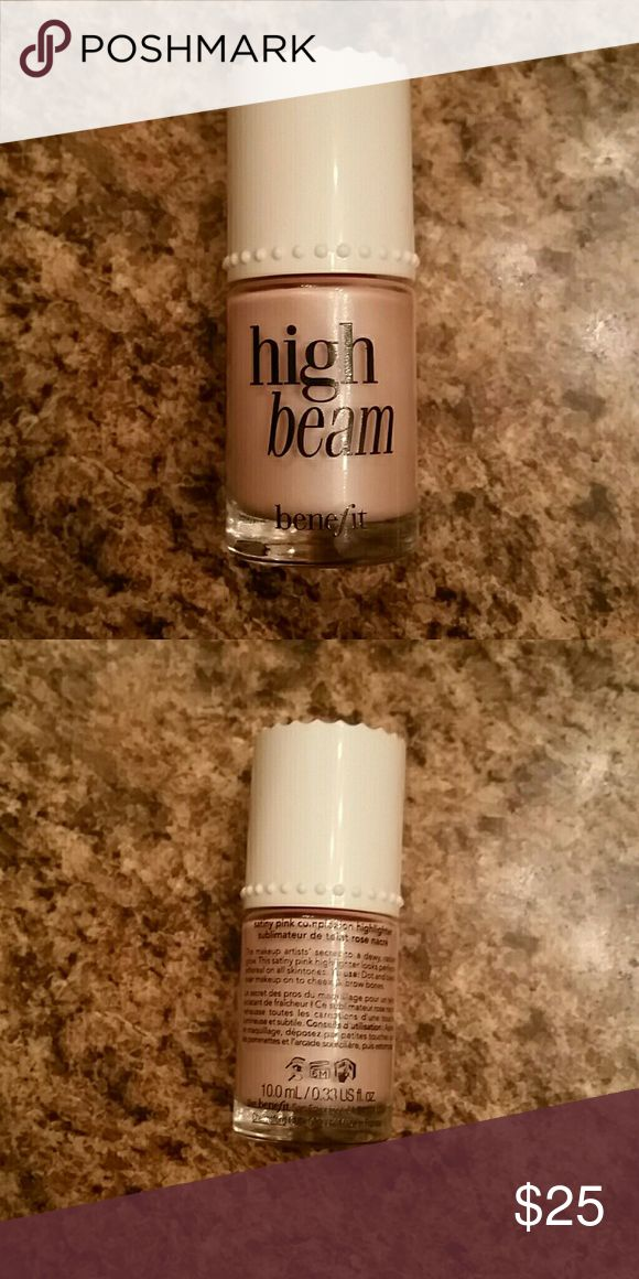 Benefit High Beam Highlighter 100% Authentic Benefit High Beam Highlighter, opened but never used (no longer have the box)purchased from Sephora, lovely pink color Benefit Makeup Luminizer