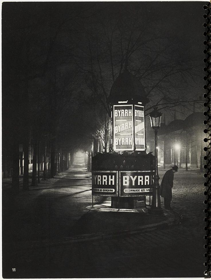 Paris de nuit, by Brassaï (1932)