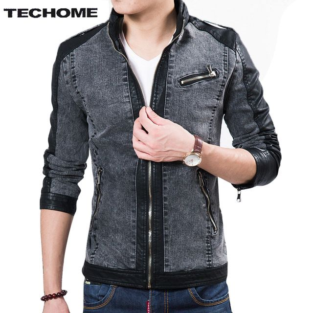 Good price 2016 Fall Top Quality Boutique Brand Jeans Jacket Men Slim Fit Male Leather Jacket Casual denim Jackets For Men Chaqueta Hombre just only $32.75 - 34.59 with free shipping worldwide  #jacketscoatsformen Plese click on picture to see our special price for you