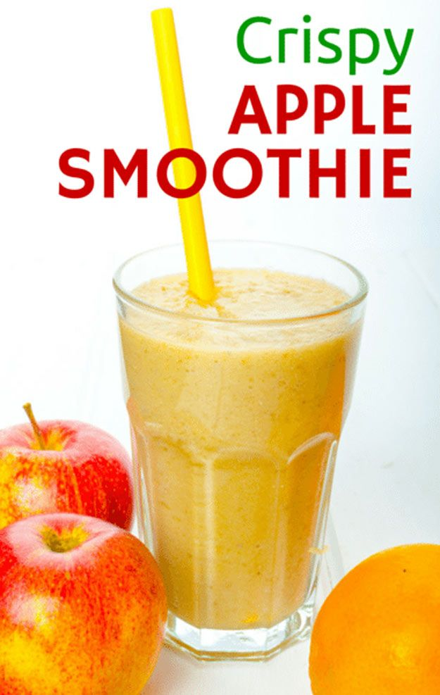 Crispy Apple Smoothie | Healthy and Tasty Fat Burning Recipes by DIY Ready at http://diyready.com/weight-loss-smoothies/