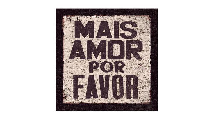 """Cuadro """"Mais Amor...""""de 50x50"""