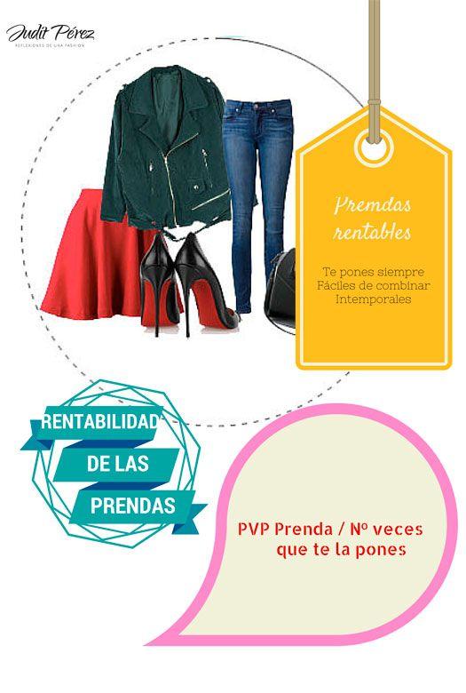 Fórmula para calcular la rentabilidad de tus prendas. #prendasdevestir #armario #prendas #consejos