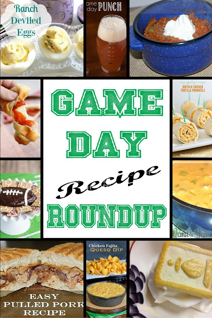 Game Day Recipe Roundup :http://www.mommywantscoffee.com/game-day-recipe-roundup/