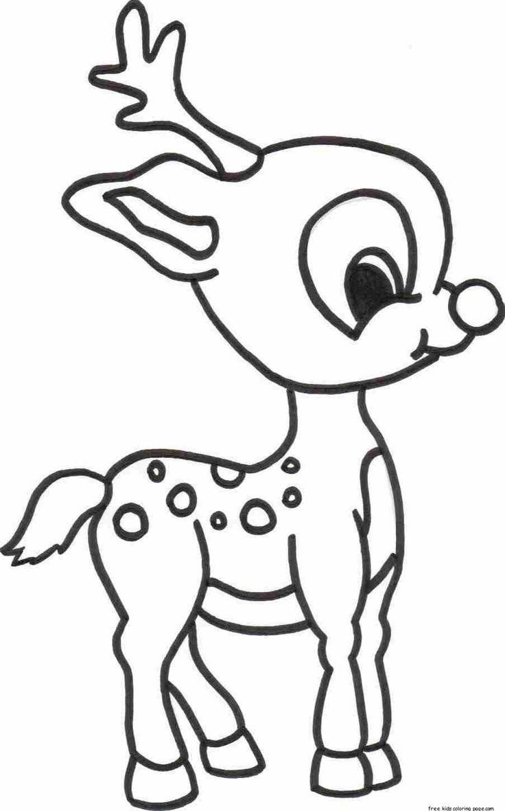Cute Reindeer Coloring Pages