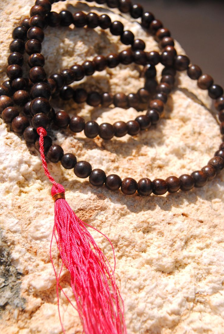 Chocolate Sanur Mala - yoga praying mala - spiritual gift by HoliMalas on Etsy https://www.etsy.com/listing/455908856/chocolate-sanur-mala-yoga-praying-mala