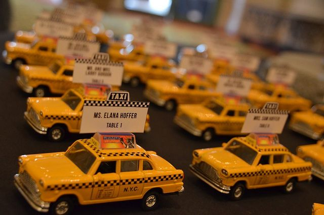 Taxi place cards