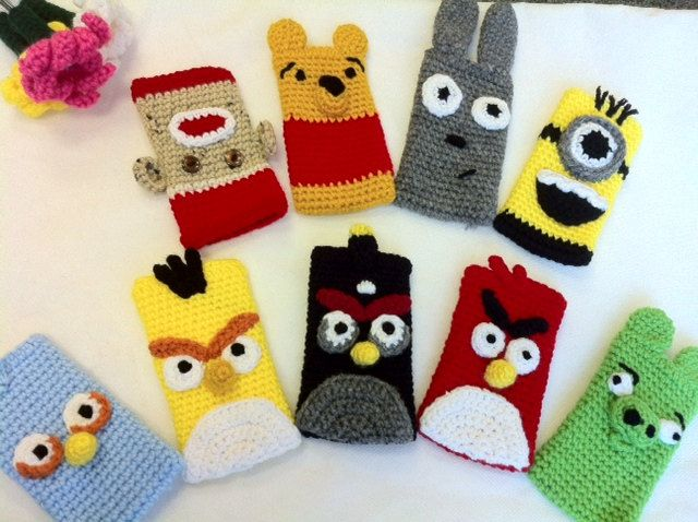 Handmade Crochet iphone 4, 4s, 3G, 3Gs, ipod touch case cozy - Made to Order