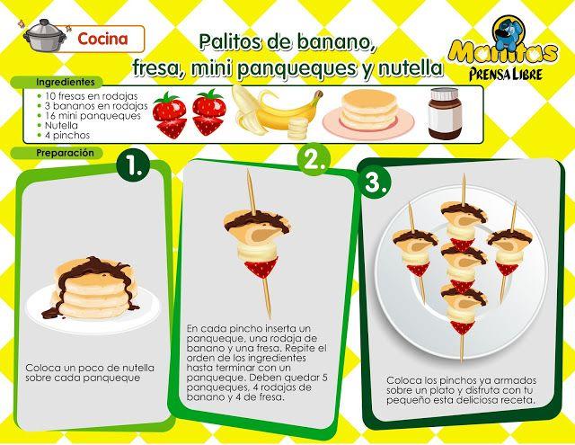 Prepara Esta Deliciosa Receta Con Tu Pequeño Foto De Http Www Manitaspl Com Recetas Divertidas Recetas De Cocina Para Niños Comidas Para Niños