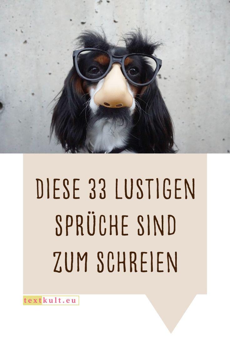 33 lustige Sprüche, die dich garantiert zum Lachen bringen ...