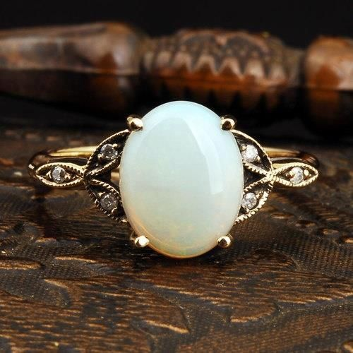 19 white vintage ring- I dont think Im normal because I would kill for this engagement ring. I love vintage!