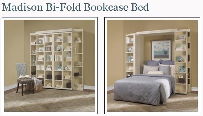 madison bi-fold bookcase bed | murphy beds | pinterest | bookcase