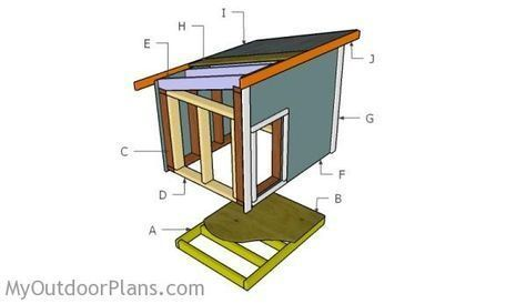 Dog House Plans for Large Dog | Free Outdoor Plans - DIY Shed, Wooden Playhouse, Bbq, Woodworking Projects #DIYShedLarge