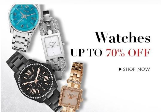 Amazon  Must have watches upto 70% off on all such fashion Brands!! Fastrack # Titan # Sonata # Casio # Timex # Citizen # Maxima # Q & Q # Fossil # Tommy Hilfiger # Kenneth Cole # Skagen
