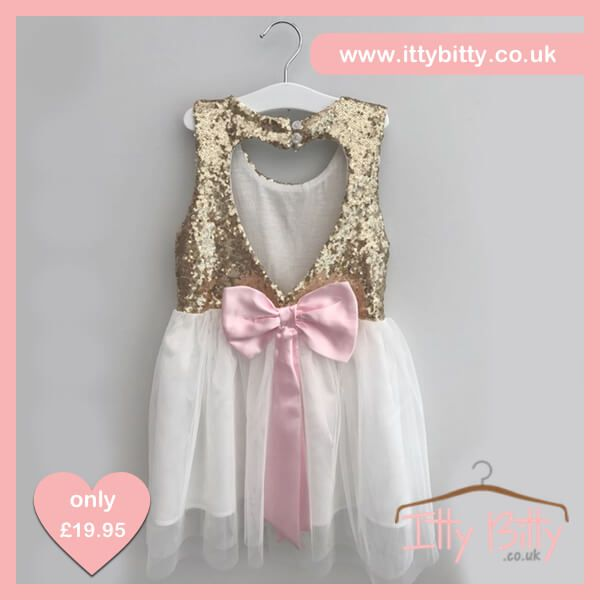 ❤️❤️SALE ❤️❤️ JUST ADDED  £14.95   Shop here 👉🏻https://www.ittybitty.co.uk/product/itty-bitty-sparkle-bow-dress/?utm_content=buffer28eba&utm_medium=social&utm_source=pinterest.com&utm_campaign=buffer  🅿️ PayPal or 💳 Credit/Debit card 🔐Secure website #sale #party #dress