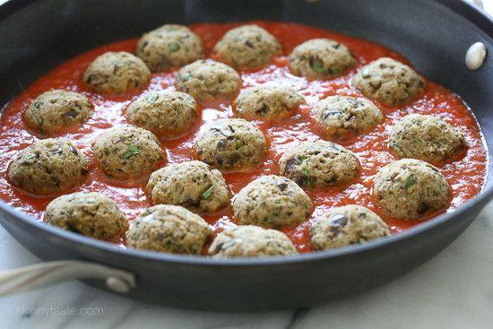 "EGGPLANT ""MEATBALLS"" (basil, breadcrumbs, Pecorino Romano cheese, parsley, tomato sauce, ricotta)"