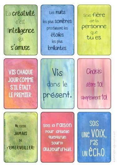 cartes positives pour les élèves:  ?