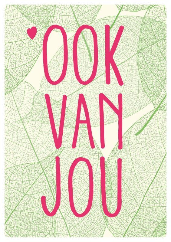 Om cadeau te geven of lekker zelf te houden, deze fraaie poster met lieve tekst. In meerdere kleuren verkrijgbaar.