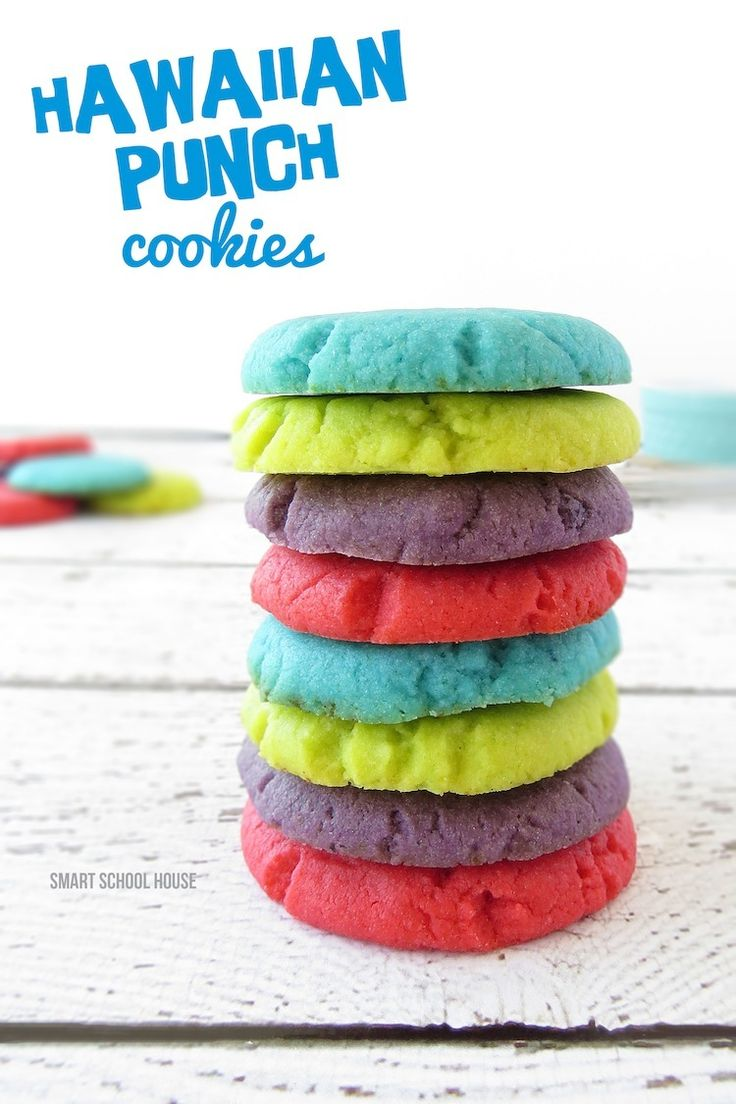 Oh my! Hawaiian Punch Cookies -- what a colorful, delightful cookie to make with #grandchildren!!