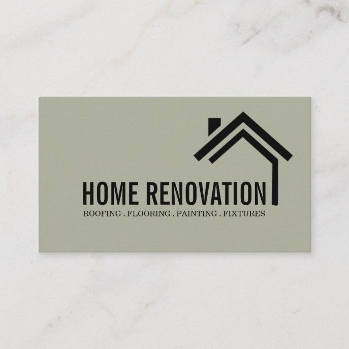 House Home Remodeling Renovation Construction Business Card Zazzle Com In 2021 Construction Business Cards Remodeling Business Home Remodeling