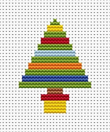 Easy Peasy Christmas Tree Cross Stitch Kit
